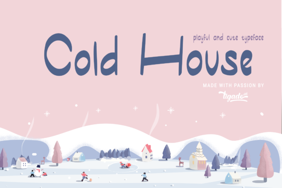 Print on Demand: Cold House Display Font By Tigade std