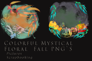Print on Demand: Colorfull Fall and Halloween Mystical Graphic Graphic Templates By Anna Tarach