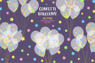 Confetti Balloons Clip Art Graphic Illustrations By Sweet Shop Design