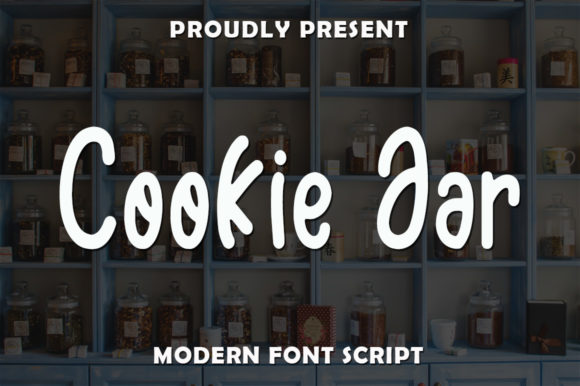 Print on Demand: Cookie Jar Script & Handwritten Font By rangkaiaksara