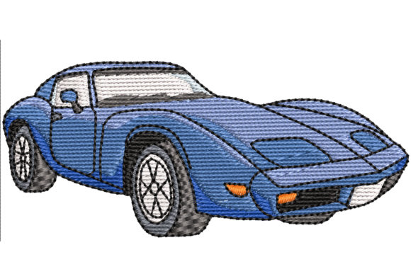 Corvette Sport Stickdesign von BabyNucci Embroidery Designs