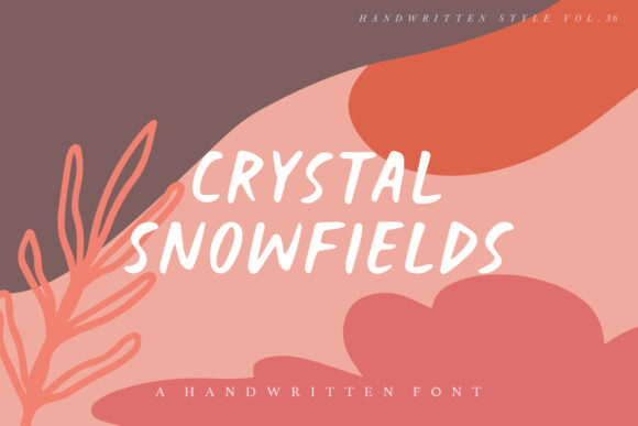 Print on Demand: Crystal Snowfields Script & Handwritten Font By Geranium.co