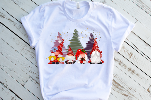 Cute Family Gnomes Christmas Sublimation Graphic Download