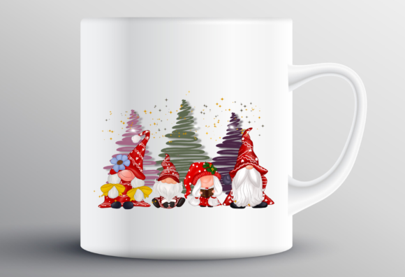 Cute Family Gnomes Christmas Sublimation Graphic Design