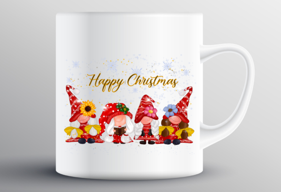 Cute Girl Gnomes Christmas Sublimation Graphic Design