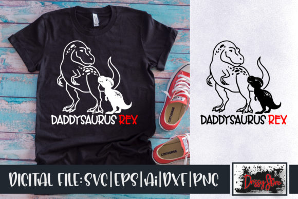 Daddysaurus Rex Graphic Illustrations By DrissyStore