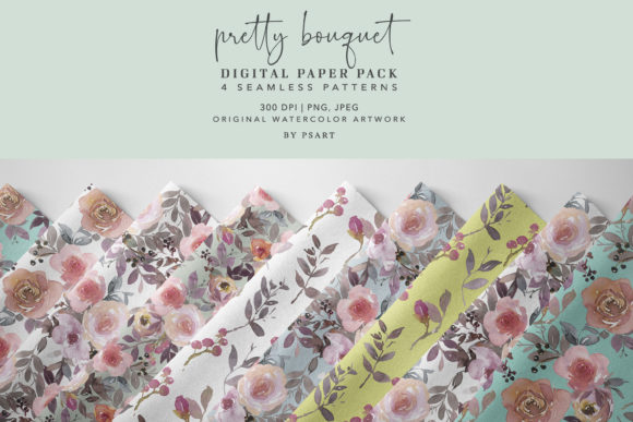 Digital Paper Pack Seamless Patterns Col Graphic Patterns By Patishop Art