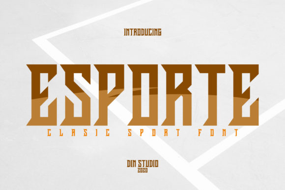 Print on Demand: Esporte Display Font By Din Studio