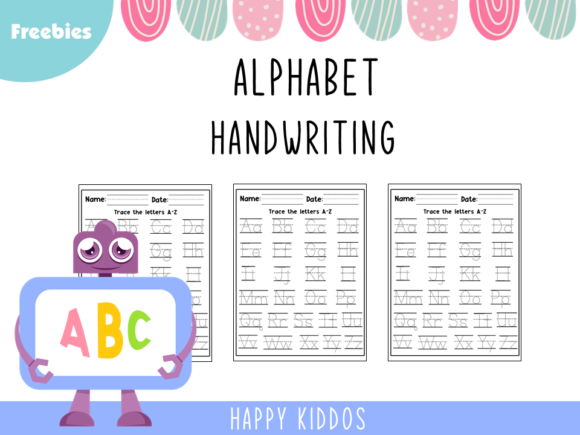 Alphabet Handwriting Worksheets Graphic PreK By Happy Kiddos