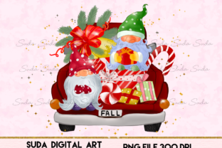 Print on Demand: Fall Christmas Truck Sublimation Graphic Illustrations By Suda Digital Art