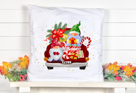 Fall Christmas Truck Sublimation Graphic Item