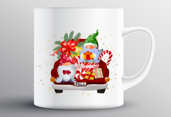 Fall Christmas Truck Sublimation Graphic Design