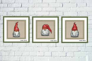 Print on Demand: Funny Gnomes Cross Stitch 3 Patterns Set Graphic Cross Stitch Patterns By Tango Stitch