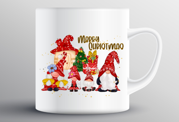 Gnomes Family Christmas Sublimation Graphic Design