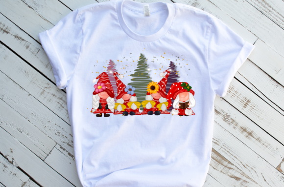 Gnomes Girl Christmas Design Sublimation Graphic Download