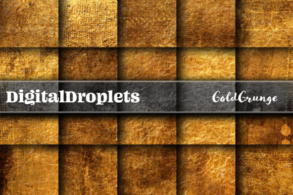 Gold Grunge Graphic Backgrounds By digitaldroplets