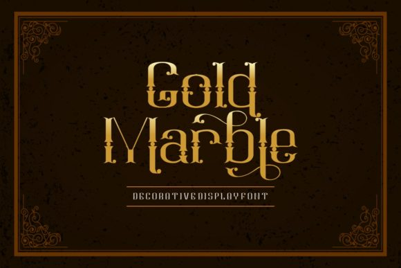 Print on Demand: Gold Marble Display Font By yunitaecy