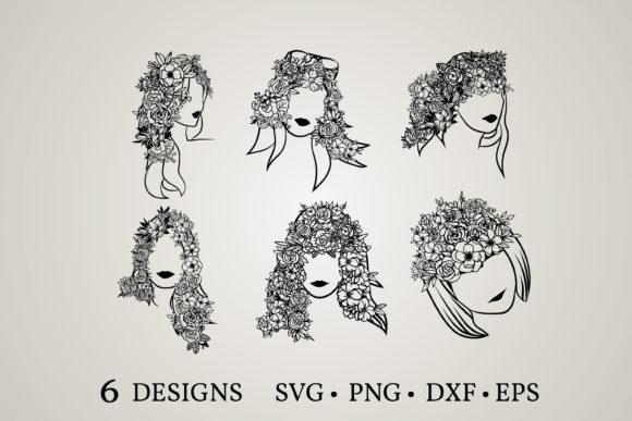 Hair Flower Svg Graphic Print Templates By Euphoria Design