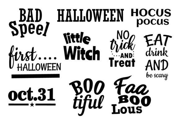 Halloween Art Quotes Graphic Illustrations By studioluckee