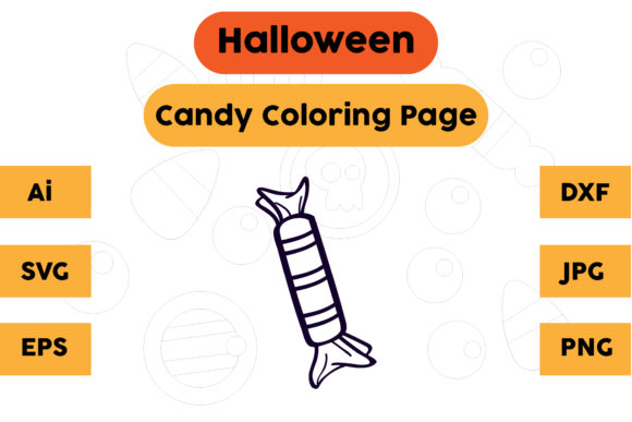 Halloween Coloring Page - Candy 21 Graphic Coloring Pages & Books Kids By isalsemarang