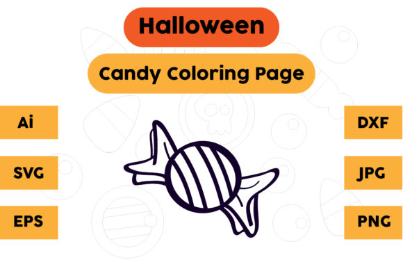 Halloween Coloring Page - Candy 22 Graphic Coloring Pages & Books Kids By isalsemarang