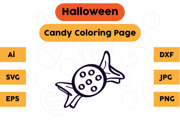 Halloween Coloring Page - Candy 23 Graphic Coloring Pages & Books Kids By isalsemarang