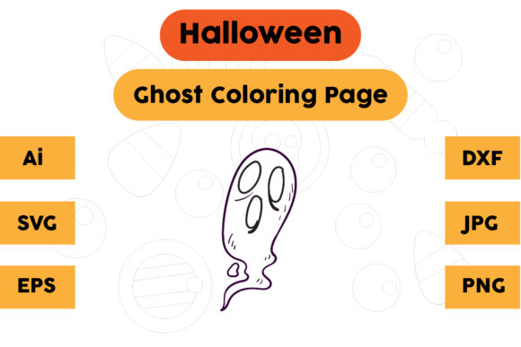 Halloween Coloring Page - Ghost 21 Graphic Coloring Pages & Books Kids By isalsemarang