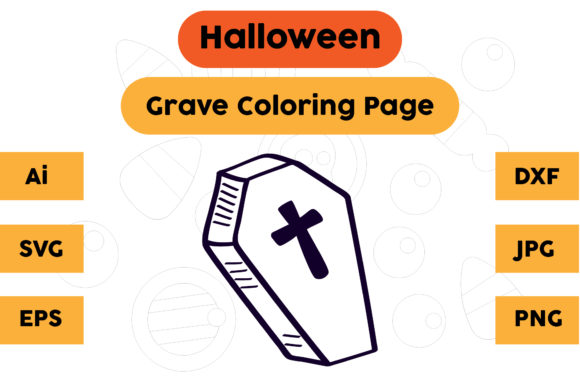 Halloween Coloring Page - Grave 18 Graphic Coloring Pages & Books Kids By isalsemarang