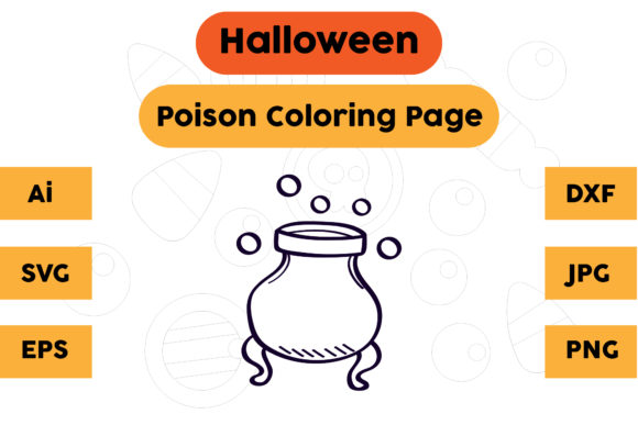 Halloween Coloring Page - Poison 17 Graphic Coloring Pages & Books Kids By isalsemarang