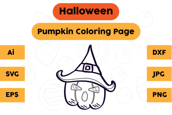 Halloween Coloring Page - Pumpkin 27 Graphic Coloring Pages & Books Kids By isalsemarang