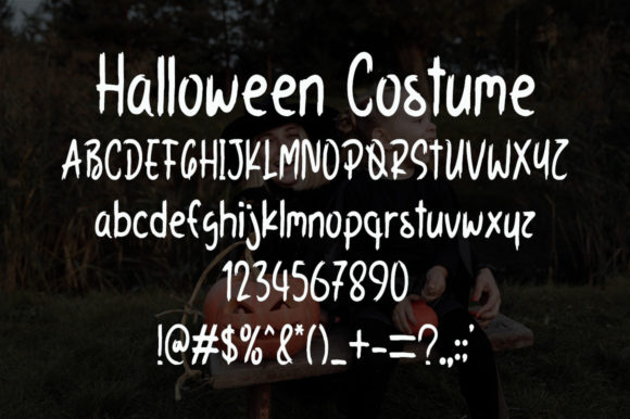 Halloween Costume Font Preview