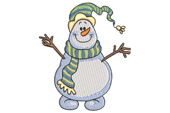 Happy Snowman Embroidery