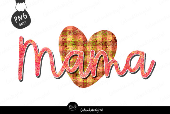 Heart Mama Sublimation Graphic Illustrations By CatAndMe