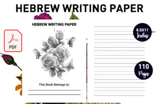 Print on Demand: Hebrew Writing Paper Graphic KDP Interiors By Gurus Kdp Templates