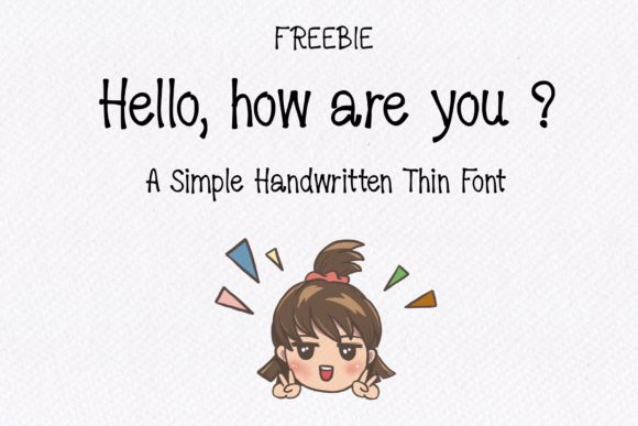 Print on Demand: Hello, How Are You? Script & Handwritten Font By TakeNoteDesign