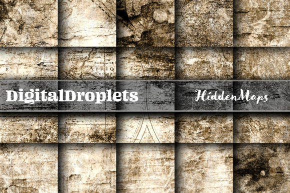Hidden Maps Graphic Backgrounds By digitaldroplets