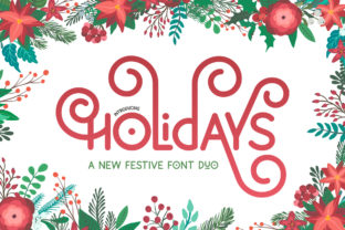 Print on Demand: Holiday Display Font By Salt and Pepper Fonts 1
