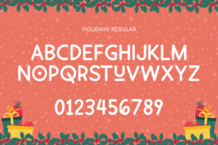 Print on Demand: Holiday Display Font By Salt and Pepper Fonts 5