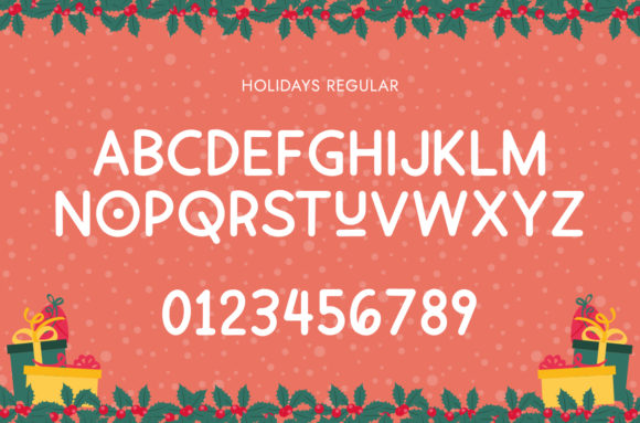 Holiday Font Preview