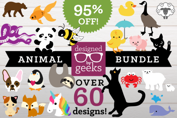 Huge Animal Bundle Graphic Crafts By DesignedByGeeks