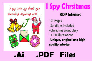 Print on Demand: I Spy Christmas for Kids - Kdp Interior Graphic KDP Interiors By KDP_Interior_101