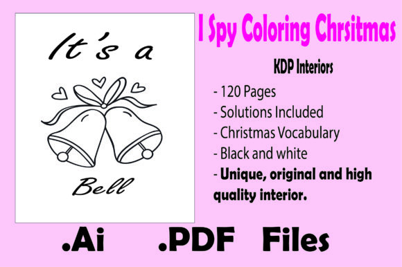 I Spy Coloring Christmas for Kids Graphic Download