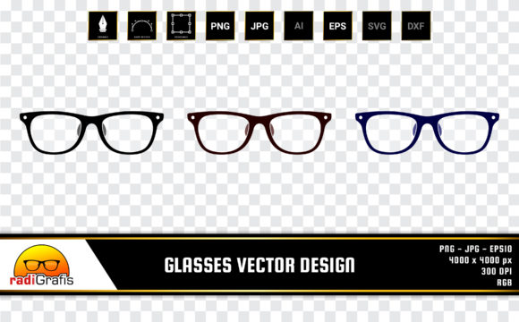 Illustration of Three Colored Glasses Graphic Illustrations By radigrafis