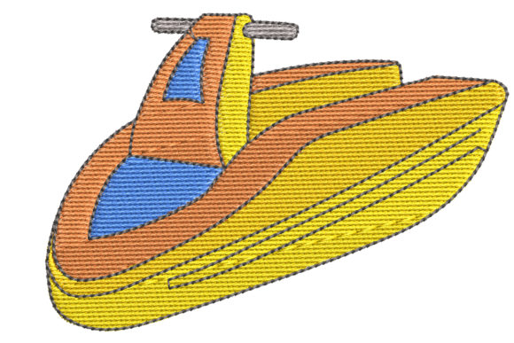 Jet Ski Sports Embroidery Design By BabyNucci Embroidery Designs