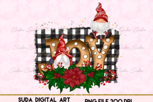 Print on Demand: Joy Gnomes Christmas Design Sublimation Graphic Illustrations By Suda Digital Art