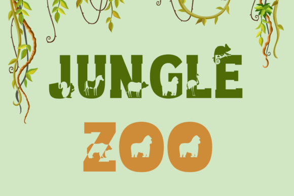 Print on Demand: Jungle Zoo Decorative Font By Vladimir Carrer