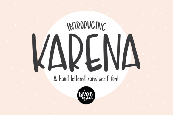 Print on Demand: Karena Script & Handwritten Font By dixietypeco