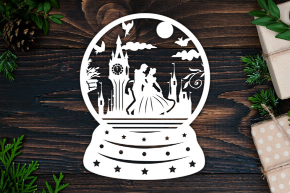 Print on Demand: Kirigami Cinderella Paper Cut Graphic 3D Shadow Box By LightBoxGoodMan