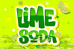 Print on Demand: Lime Soda Display Font By BB Digital Arts