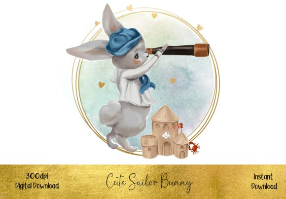 Little Sailor Bunny Rabbit Graphic Illustrations By STBB